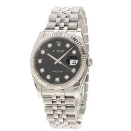 ロレックス 116234G デイトジャスト 10P ダイヤモンド  腕時計メンズ