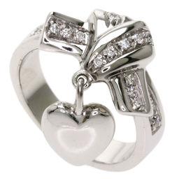 グッチ ハートチャーム ダイヤモンド #6 リング・指輪レディース