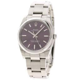 ロレックス 114200 オイスターパーペチュアル レッドグレープ 腕時計メンズ