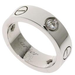 カルティエ ラブリング #50 ハーフダイヤモンド リング・指輪レディース