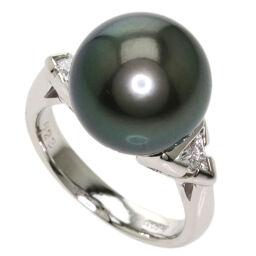 セレクトジュエリー ブラックパール 真珠 ダイヤモンド リング・指輪レディース