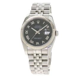 ロレックス 116234 デイトジャスト 黒 サンビーム 腕時計 OH済メンズ