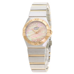 Omega 123.20.27.60.57.002 Constellation Blush 12P Diamond Watch Ladies
