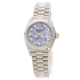 ロレックス 69179G デイトジャスト ソーダライト 10P ダイヤモンド 腕時計レディース