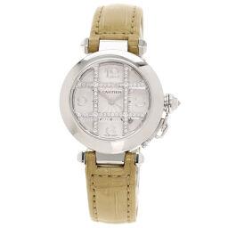 カルティエ WJ101456 パシャ 32mm グリッドダイヤモンド  腕時計 OH済レディース