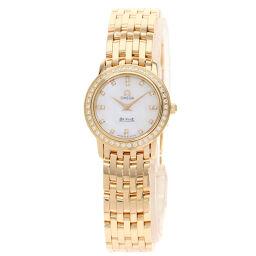 オメガ 4135.75 デビルプレステージ 16Pダイヤモンド 腕時計レディース