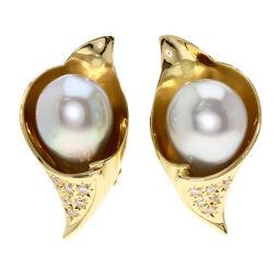 Tasaki Pearl Pearl Diamond Earrings Women