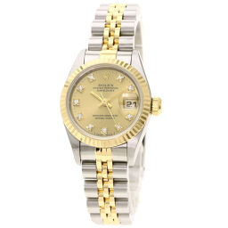 Rolex 69173G Datejust 10P Diamond Watch Overhauled Ladies