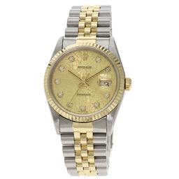 Rolex 16233G Datejust 10P Diamond Watch Men's