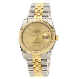 Rolex 116233G Datejust 10P Diamond Watch Men's