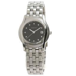 Gucci 5500L Round Face 11P Diamond Watch Ladies
