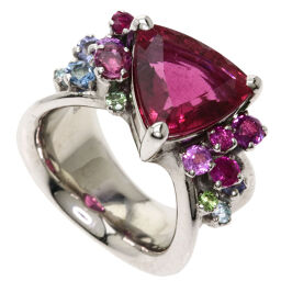 Koji Iwakura Tourmaline Multicolor Stone Ring / Ring Ladies
