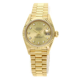 Rolex 69178G Datejust 10P Diamond Watch OH Finished Ladies
