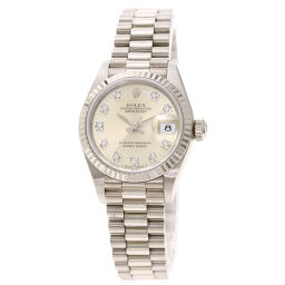 Rolex 69179G Datejust 10P Diamond Watch OH already Ladies