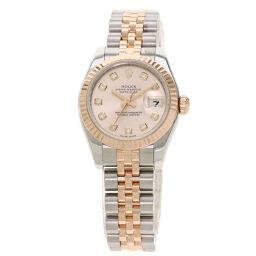 <html>    <body>   ロレックス 179171G デイトジャスト 10P ダイヤモンド 腕時計 OH済レディース        </body> </html>