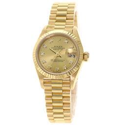 <html>    <body>   ロレックス 79178G デイトジャスト 10P ダイヤモンド 腕時計 OH済レディース        </body> </html>