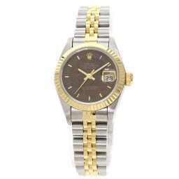<html>    <body>   ロレックス 69173 デイトジャスト ウッドダイヤル ウォールナット 腕時計 OH済レディース        </body> </html>