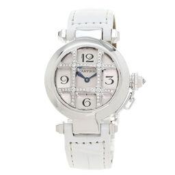 カルティエ WJ11932G パシャ32mm グリッドダイヤモンド 腕時計レディース
