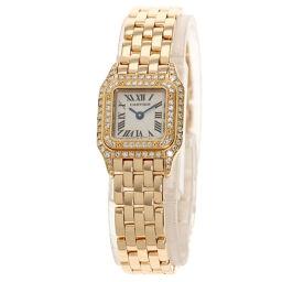 Cartier WF3260F1 Mini Pantail Bezel Diamond Wrist Watch OH Finished Ladies