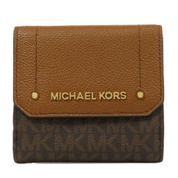 Michael Kors logo W hook bi-fold wallet (with coin purse) Ladies