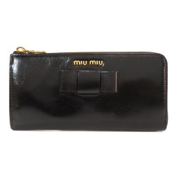 Miu Miu 5ML183 Ribbon motif Long wallet (with coin purse) Ladies