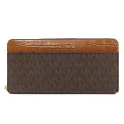 Michael Kors logo logo design round zipper long wallet (with coin purse) ladies