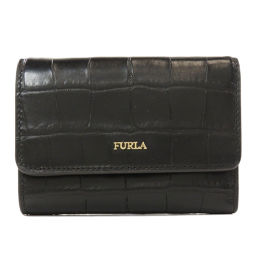 Furla logo logotype embossed bi-fold wallet (with coin purse) Ladies
