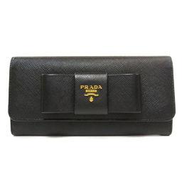 プラダ 1MH132 リボンモチーフ サフィアーノ 長財布(小銭入れあり)レディース