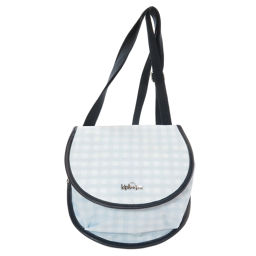 Kipling Logo Check Pattern Shoulder Bag Ladies