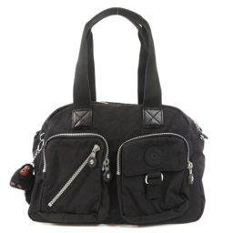 Kipling logo with logo charm 2way handbag ladies