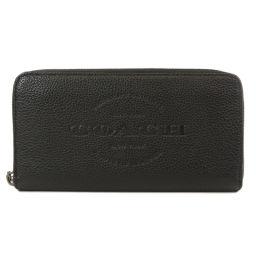 コーチ F24648 アウトレット ロゴ 型押し ラウンドファスナー 長財布(小銭入れあり)メンズ
