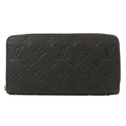 ルイヴィトン M61864 ジッピー ウォレット アンプラント ノワール 長財布(小銭入れあり)レディース