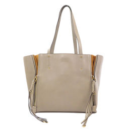 Chloe logo embossed mylo tote bag ladies