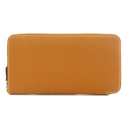 エルメス アザップシルクイン ヴォーエプソン ゴールド 長財布(小銭入れあり)レディース