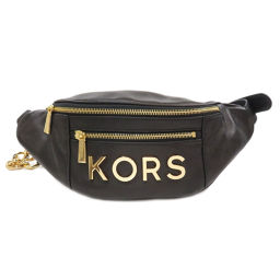 Michael Kors 30H8GKSN6L Logo Embellished Leather Belt Body Bag Ladies
