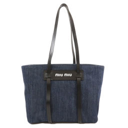 Miu Miu 5BG145 Logo Logotype VITELLO Tote Bag Ladies