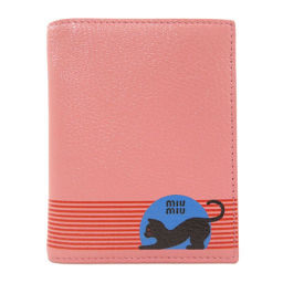Miu Miu 5MV204 logo cat motif bi-fold wallet (with coin purse) Ladies