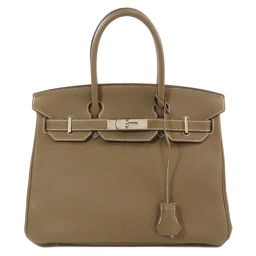 Hermes Birkin 30 Silver Hardware Etope Etupe Tote Bag Ladies