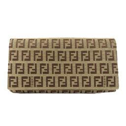 フェンディ ロゴパターン 長財布(小銭入れあり)レディース