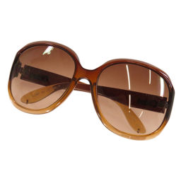 Chloe logo motif sunglasses women