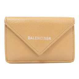 バレンシアガ ペーパーミニウォレット 二つ折り財布(小銭入れあり)レディース