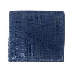 ロエベ ロゴ型押し 二つ折り財布(小銭入れあり)メンズ
