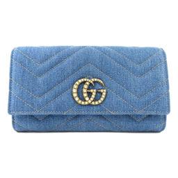 グッチ 443436 GGマーモント 長財布(小銭入れあり)レディース