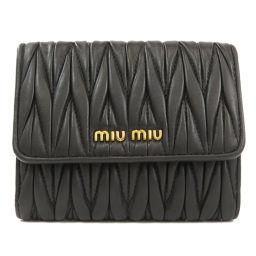 ミュウミュウ 5MH523 ロゴ 二つ折り財布(小銭入れあり)レディース