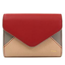 クロエ 三つ折り財布 パッチワーク 二つ折り財布(小銭入れあり)レディース