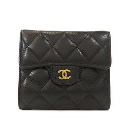 シャネル クラシック スモール フラップ ウォレット 二つ折り財布(小銭入れあり)レディース
