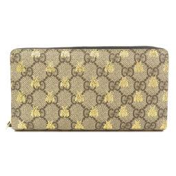 グッチ 410102 GGスプリーム ビー 蜂 長財布(小銭入れあり)ユニセックス
