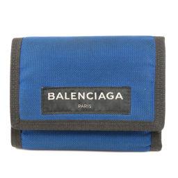 バレンシアガ 607481 ロゴモチーフ 二つ折り財布(小銭入れあり)メンズ