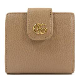 グッチ 523193 GGマーモント 二つ折り財布(小銭入れあり)レディース