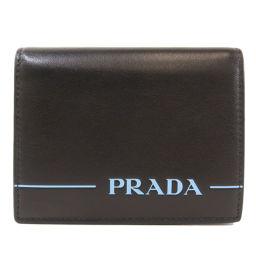 プラダ 1MV204 ロゴ 二つ折り財布(小銭入れあり)メンズ